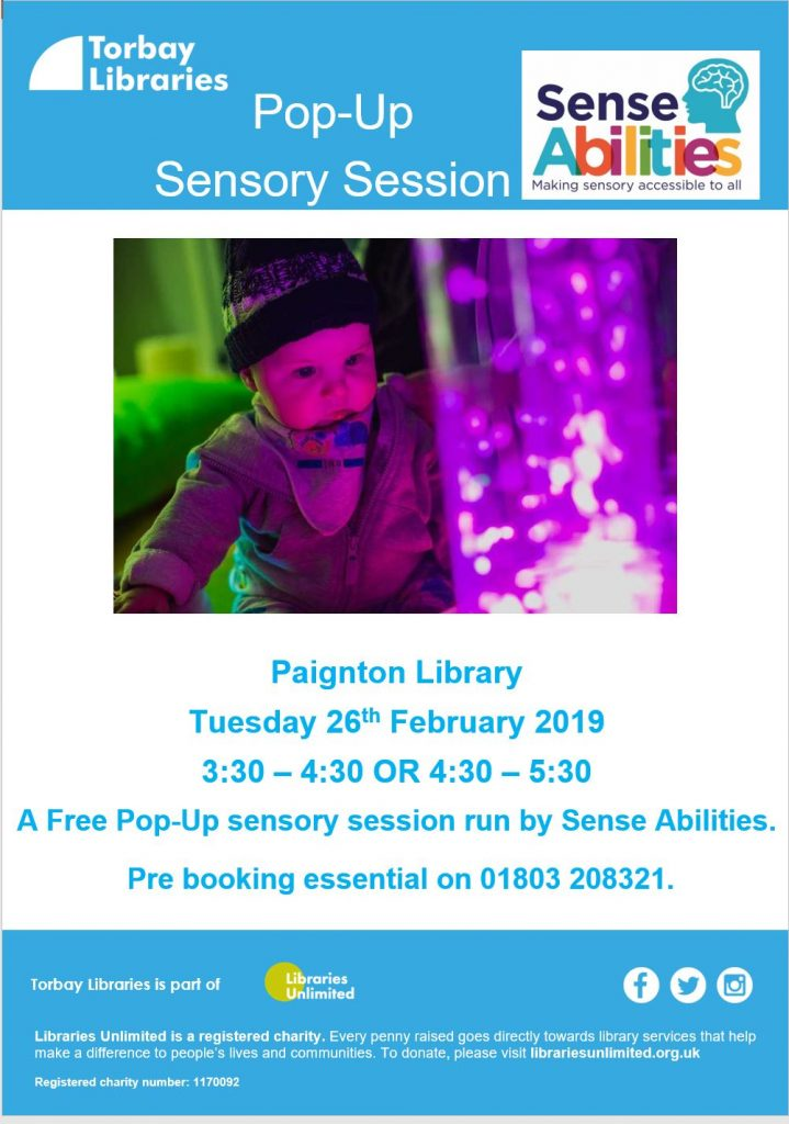Paignton Library Sensory Session