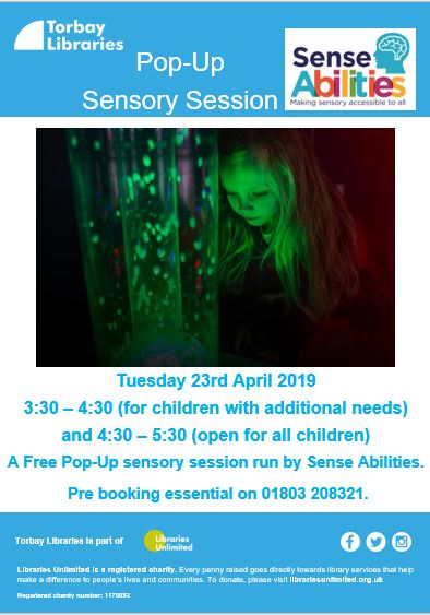 Paignton Library Pop-up Sensory Session