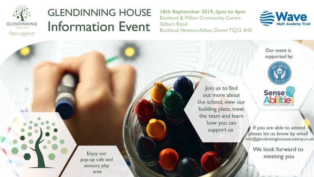 Glendinning House welcome event advert