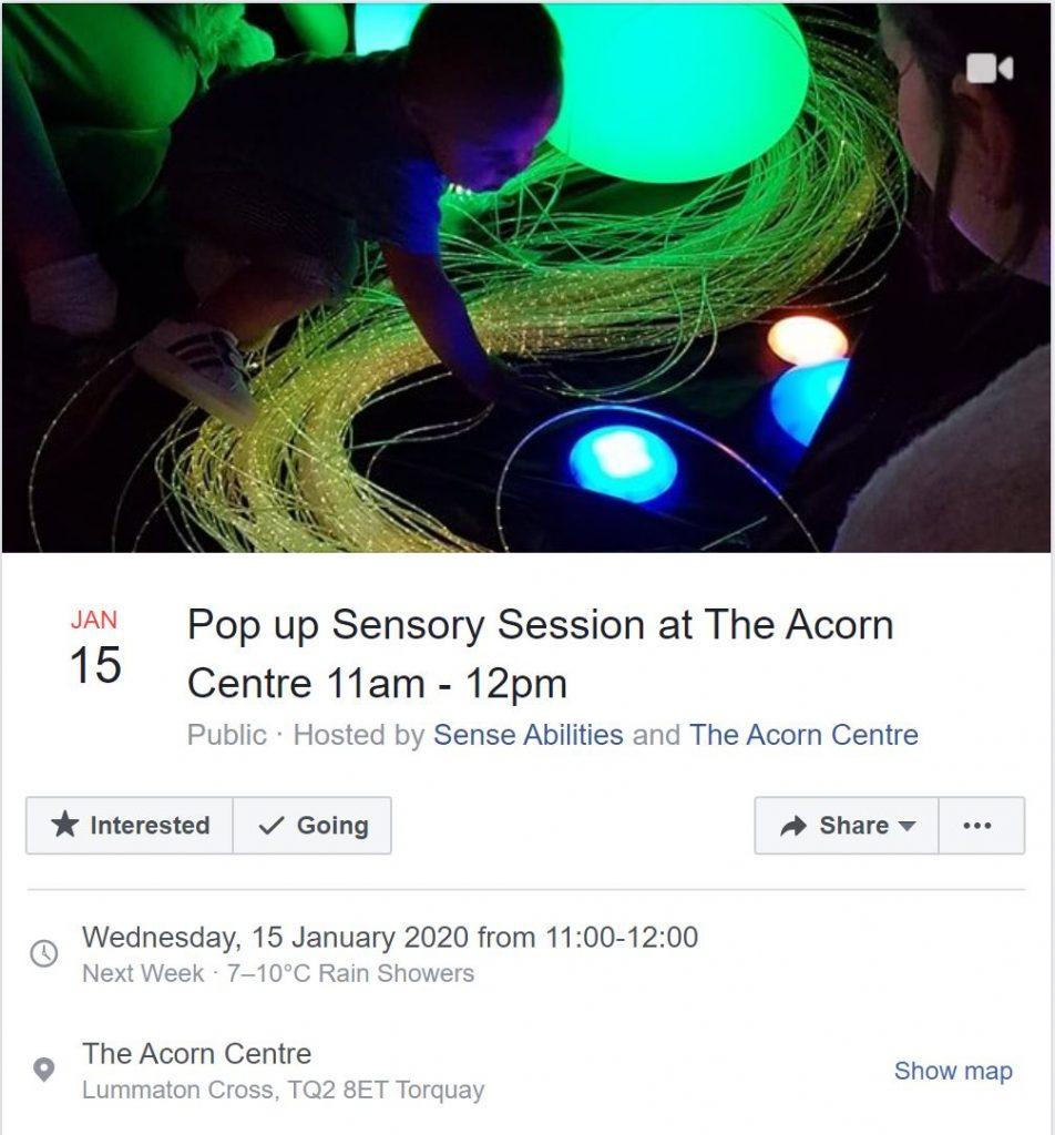 pop up sensory session